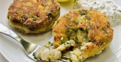 Tortitas de camarones y bacalao