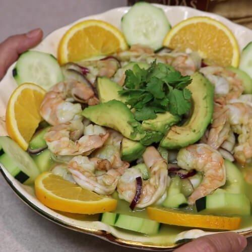 camarones aguachile estilo Michoacán