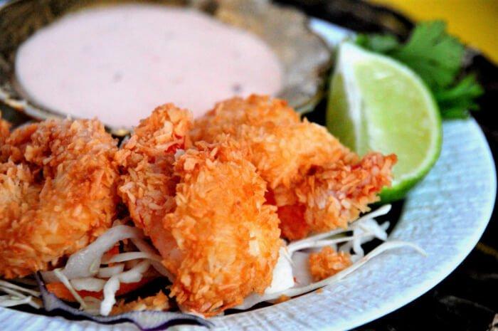 camarones al coco keto