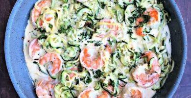 camarones a la crema verde