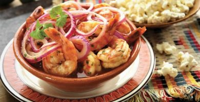 ceviche de camarones ecuatoriano