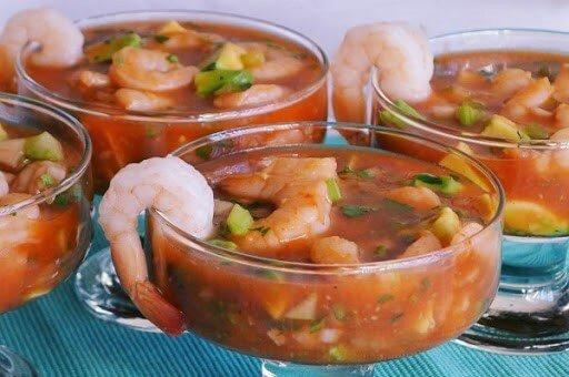 cóctel de camarones estilo Jalisco