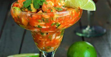 Cóctel de camarones estilo Veracruz