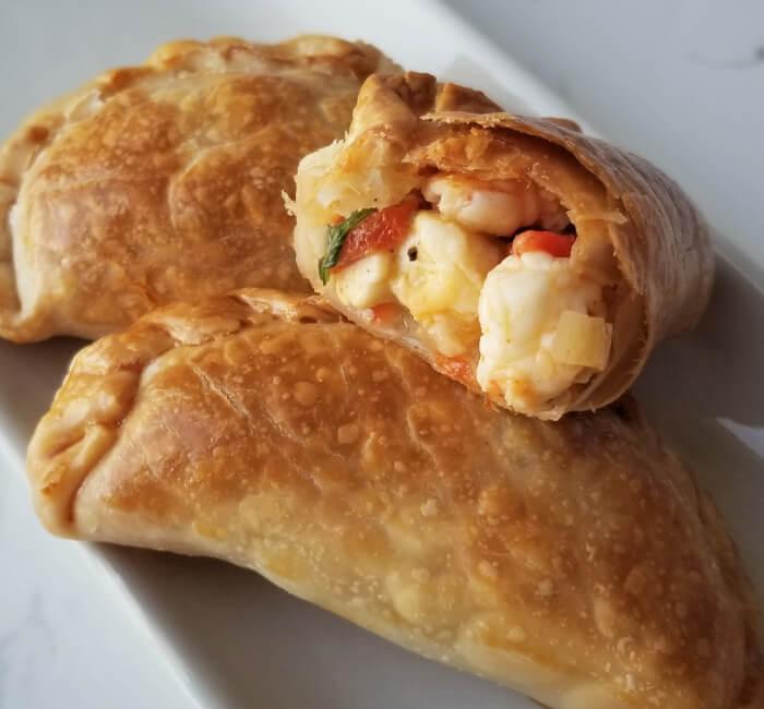empanadas de camarón fritas