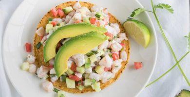 ensalada de camarones estilo Sinaloa