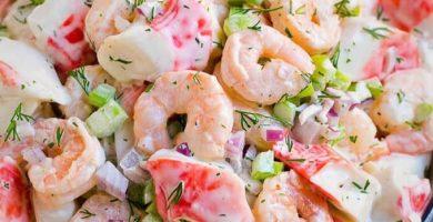 ensalada de camarón estilo Veracruz