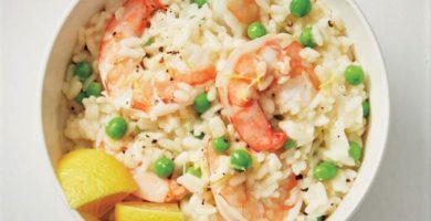 risotto de camarones