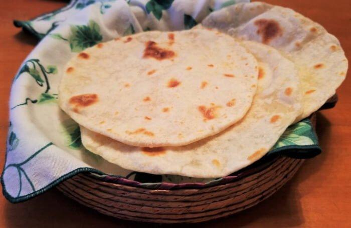 Tortillas de harina de trigo para tacos de camarones