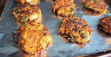 Tortitas de camarones al horno